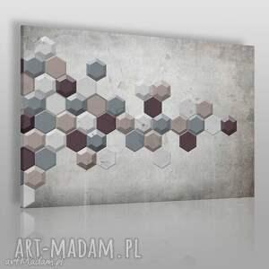 obraz na płótnie - abstrakcja geometria minimalizm 120x80 cm 43001