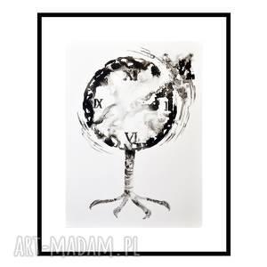 Tempus fugit /1/, grafika, tusz, abstrakcja, autorska, rysunek, tuszem,