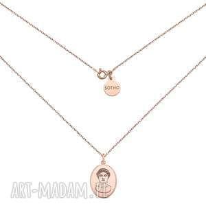 ręczne wykonanie naszyjniki medalion z różowego złota z boginią herą