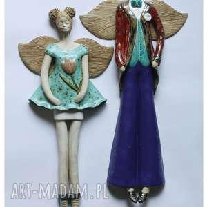 para wisząca w niebieskiej tonacji ii, ceramika, anioł ceramika dom