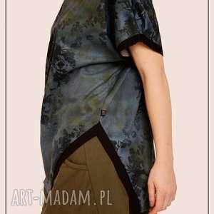 non tess dzianinowa spódnica khaki ze ścągaczem, dzianinowa, sciagacz, khaki, mini