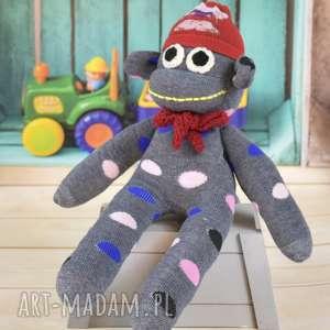 małpka - skarpeciak - dziecko, prezent, przytulanka, sesja, foto, akcesoria