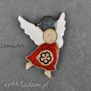 ceramiczny magnes aniołek , magnes, ceramiczny, dom