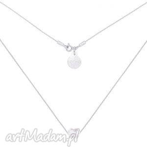 sotho srebrny naszyjnik zdobiony kryształowym serduszkiem - delikatny