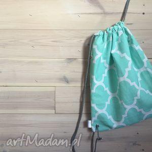 plecak miejski koniczyna marokańska miętowa, plecak, miejski, koniczyna