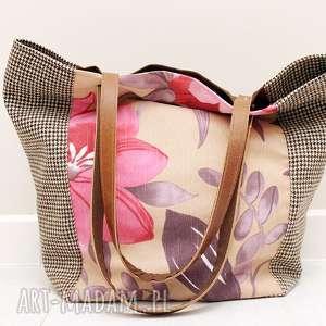 hand made torebki kwiaty, krata