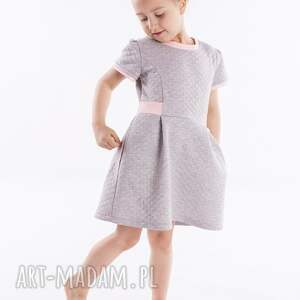 sukienka dsu05, pikowana, modna, elegancka, wygodna dla dziecka