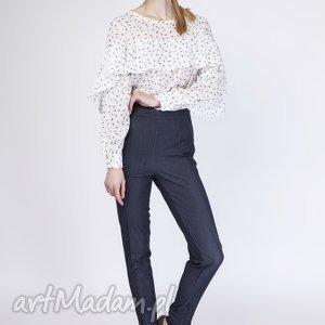 handmade bluzki fenomenalna bluzka, blu130 piórka/ecru
