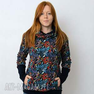 bluza damska jarzębina, damska, z kominem, dresowa, kolorowa