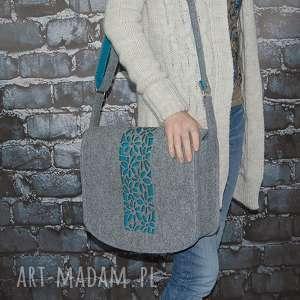 torba z filcu - listonoszka personalizowana grawerowaną dedykacją, torba, torebka