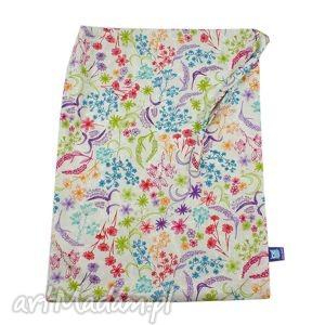 worek przedszkolaka, wzór rajski ogrÓd - worek, przedszkolak, kwiaty, ogród