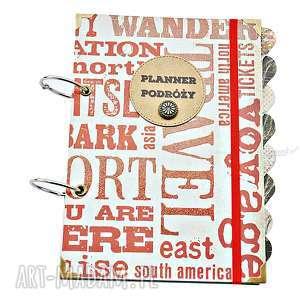 scrapbooking notesy travel - planner podróży, planer dla podróżnika