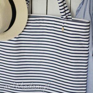 torba w paski, torba, torebka, damska, ramię, marynistyczna torebki