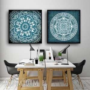 zestaw 2 prac 50x50cm, mandala, plakat, plakaty, obraz, sztuka