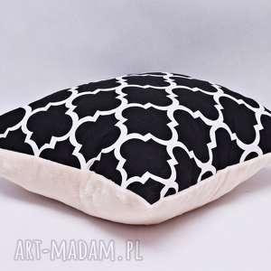 Poduszka maroko czarne, poduszka, ozdobna, stylowa, maroko, minky, ozdoba