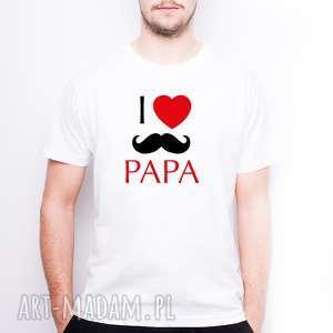 KOSZULKA MĘSKA I LOVE PAPA, dlaniego, dlataty, dzientaty, dzienojca