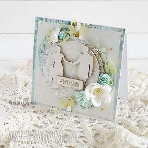 kartka ślubna w pudełku 477