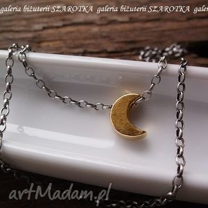 ręcznie wykonane naszyjniki w blasku księżyca minimalistyczny naszyjnik ze srebra oksydowanego