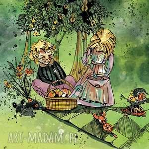 plakat - niezwykŁy piknik - dziecko, chłopiec, a3, dziewczynka, plakat, obrazek