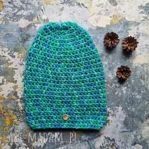 handmade czapki czapka kolorowa włóczka unisex