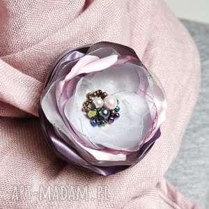 ręcznie zrobione broszki wyjątkowa broszka kwiatek, przypinka