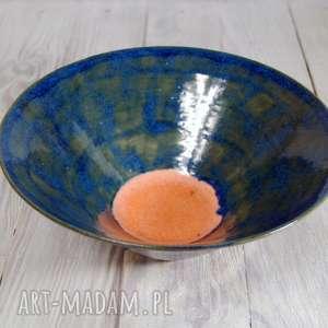 misa turkusowa pomarańcz, ceramika, ceramika-użytkowa, misa, misa-na-owoce