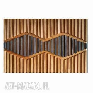 obraz z drewna, dekoracja ścienna /43 - maska/