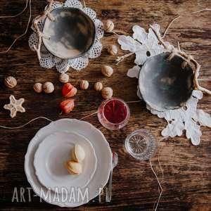 Prezent Komplet miseczek z drewnem, miska, sztuka, kuchnia, patera, prezent,