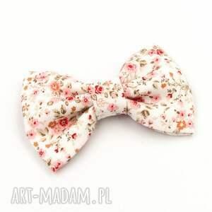 spinka do włosów kokarda kwiatki florence pink, włosów
