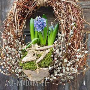 handmade dekoracje wianek wiosenny na drzwi