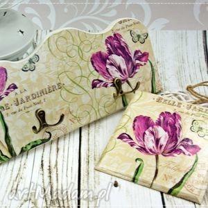 wieszak i obrazek- tulipany, wieszak, obrazek, na, ścianę