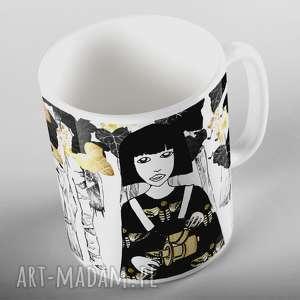 kubki kubeczek z autorską ilustracją, kubek, ceramika, prezent, kobieta
