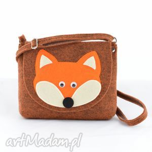 handmade dla dziecka torebka dziecięca - rudy lis
