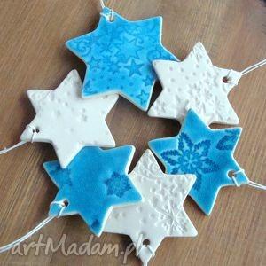 ceramika ceramiczne gwiazdki w gwiazdki, śnieżynki, zawieszki
