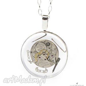 handmade naszyjniki i want it all - srebrny nasyzjnik z elementami zegarka, lucreative