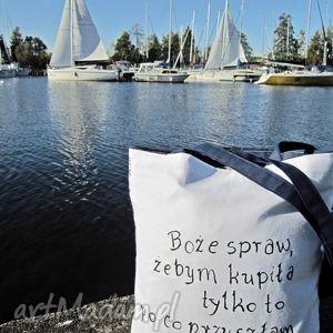 na zakupy ekotorba z napisem, eko-torba torebki