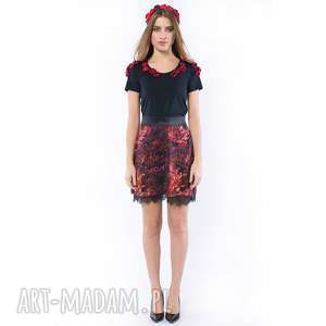 mały książę - koszulka haftowana różami, haftowana, bluzka, kwiaty bluzki