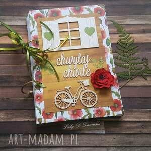notes /pamiętnik/ maki i chabry, maki, życzenia, polne, kwiaty, prezent