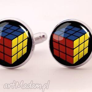 Kostka Rubika - Spinki do mankietów - ,kostka,rubika,spinki,mankietów,facet,prezent,