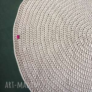 dywan ze sznurka baweŁnianego 110 cm jasny rÓŻowy - dywan, szunrek