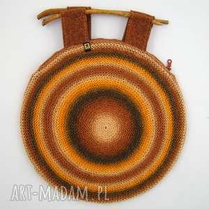 Prezent torebka w brązach i rudościach, torebka, torba, jesienna, unikat, prezent