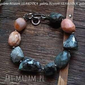 bransoletki awokado i papaja bransoletka ze szmaragdów, agatów srebra, szmaragd