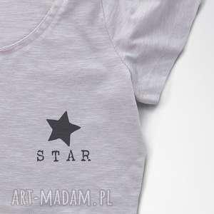 mini STAR tshirt z nadrukiem, koszulka, bluzka, oversize, star
