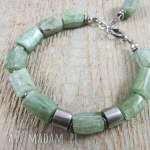 ręczne wykonanie zielony kyanit - bransoletka 426