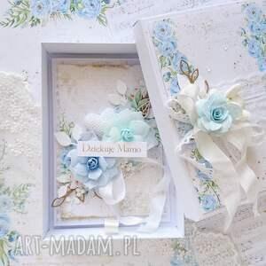made-by-kate kartka na dzień matki w niebieskich kolorach