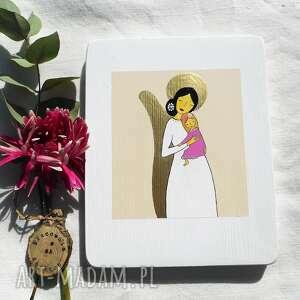 dla dziecka obrazek na chrzest święty - dziewczynka 2, anioł stróż