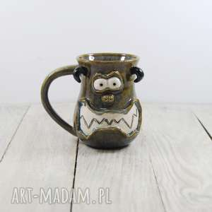 handmade pomysł na prezent kubek ceramiczny potworek