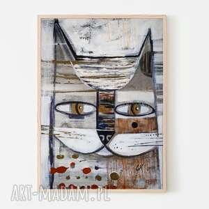 plakaty plakat 50x70 cm - kocur, plakat, wydruk, kot, kotek, obraz