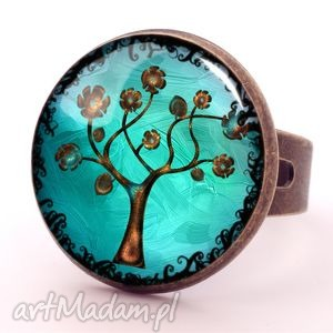 ręczne wykonanie pierścionki drzewo nadziei - pierścionek regulowany