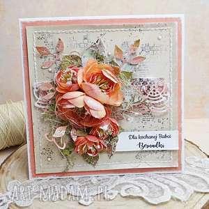 kartka dla babci w pudełku, babcia, babci, dziadek, kartka, prezent